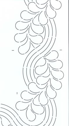 Quilt Stencil Cable & Feather Border By Emmerson, Keryn Machine Quilting Patterns, Mug Rug Patterns, Stencil Patterns, Stencil Designs, Quilt Patterns, Quilting Stencils, Quilting Templates, Longarm Quilting, Free Motion Quilting