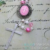 Pinkki rukousnauha 40€ #rukousnauha #rosario #usko #rakkaus #risti #kristinusko #helmipaikka
