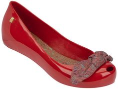 Sapato Boneca Couro Dali Shoes Bico Quadrado Feminino Vermelho
