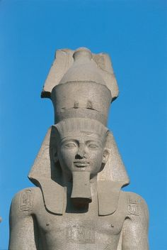 Egypt - Historic Cairo (UNESCO World Heritage List, 1979). Colossal statue of Ramses II at Ramses Square. Detail