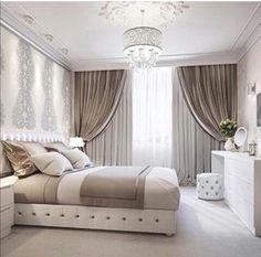 37 The Little-Known Secrets to Elegant Bedroom Ideas Glamour Luxury Master Suite - bdarop Luxury Bedroom Design, Luxury Decor, Luxury Interior, Interior Design, Trendy Bedroom, Modern Bedroom, Master Bedrooms, Lounge Chair, Elegant Home Decor