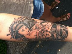 My crafty geisha tattoo.