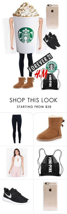 """""""Typical Basic Girl"""" by fashion-outlook ❤ liked on Polyvore featuring NIKE, UGG Australia, Victoria's Secret, Forever 21, H&M, Incase, women's clothing, women, female and woman"""