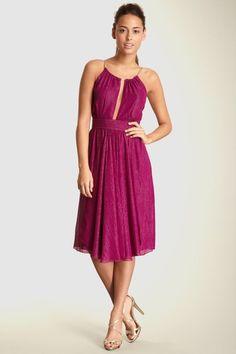 26440d7061c3f Streaked Lurex Chiffon Keyhole Halter Dress