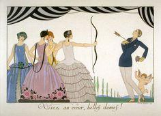 Geroge Barbier, from Le Bonheur du Jour ou Les Graces à la Mode, Paris: Chez Meynial, 1924.