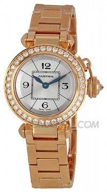 Cartier Miss Pasha Diamond Paved 18k Rose Gold Ladies Watch WJ124013 ¥214268