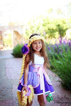 Rapunzel inspired Dress Up Costume Apron por rossandrosiedesigns