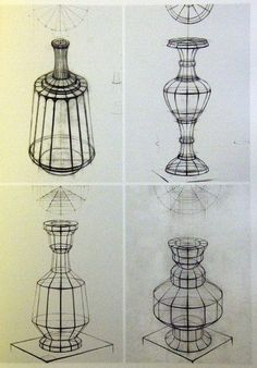 Basic Drawing, Drawing Lessons, Drawing Techniques, Pencil Art, Pencil Drawings, Vase Design, Paper Vase, Vase Crafts, Still Life Drawing