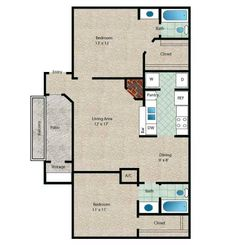 Tahiti Floor Plan - 2 Bath with approximately 925 square feet. Lakeside Dining, University Of Houston, Clear Lake, Contemporary Apartment, Two Bedroom Apartments, Small House Plans, Galveston, Lake City, Tahiti