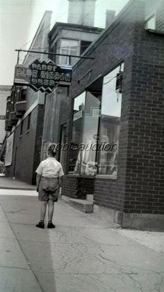 1940's Pabst Blue Ribbon Sign Bar Boy Chicago Heights Street Photo Negative   eBay