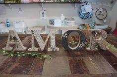 AMOR em scrap! Todas as letras decoradas