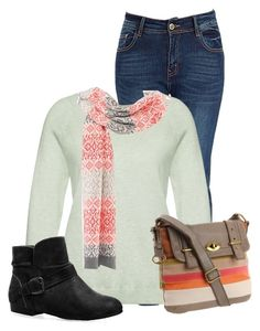 """Untitled #12774"" by nanette-253 ❤ liked on Polyvore featuring Sandwich, Talbots, FOSSIL and Avenue"