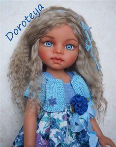 Янина - нежная девочка-незабудка! ООАК куклы Antonio Juan. / Авторские куклы (ООАК) / Шопик. Продать купить куклу / Бэйбики. Куклы фото. Одежда для кукол