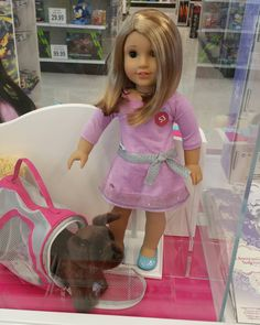 I really enjoy American Girl and have always been impressed with the company.  This experience left me sad.  I planned to buy 1 outfit and didn't want to after seeing the dolls set up like this.