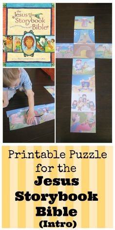 Jesus Storybook Bible Activities: A Puzzle to help visualize the introduction of the book. All the Bible points to Christ!