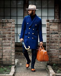 Smart Casual Wear, Casual Wear For Men, Mode Masculine, Suit Fashion, Mens Fashion, Black Guy Fashion, Fashion Bags, Fashion Backpack, Topcoat Men