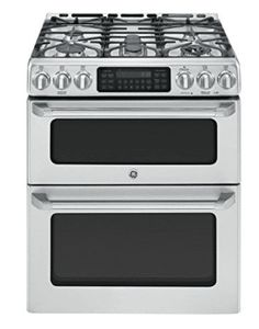 The GE Café Free-Standing Gas Double Oven Range includes a convection oven and a precise simmer burner, perfect for cooking food exactly how you want it. Kitchen Stove, New Kitchen, Kitchen Appliances, Kitchen Ideas, Kitchen Ranges, Kitchen Inspiration, Small Appliances, Kitchen Designs, Kitchen Updates