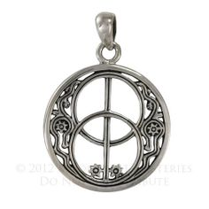 Sterling Silver Chalice Well Avalon Pendant Necklace Wiccan Pagan SS Jewelry