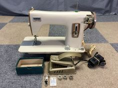 SERVICED WORKS PERFECT VINTAGE BROTHER OPUS 1351 METAL SEWING MACHINE HEAVY DUTY #Brother