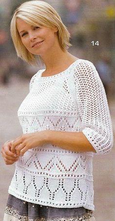 Ажурные пуловеры спицами. Обсуждение на LiveInternet - Российский Сервис Онлайн-Дневников