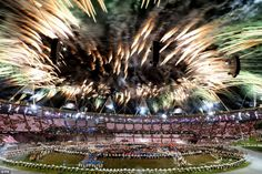 Spectacular: 2012 London Olympic Games Opening. 28 July 2012. Watched with friends all morning.