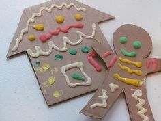 Puffy Paint Gingerbread Man Craft - Things to Make and Do, Crafts and Activities for Kids - The Crafty Crow Holiday Crafts For Kids, Preschool Christmas, Christmas Activities, Xmas Crafts, Kids Christmas, Advent Activities, Christmas 2016, Christmas Cookies, Christmas Decor