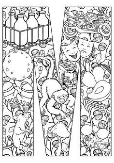Free coloring page coloring-adult-mouse-and-monkey. Funny monkey and mouse