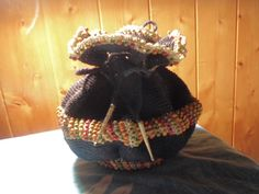 Vintage crochet  drawstring purse colorful ♥ by VintageEruptions, $25.00