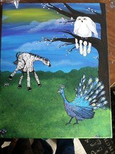 Animal handprint canvas