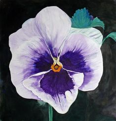 "Daily Paintworks - ""Grandmas Pansy"" - Original Fine Art for Sale - © Susan  Duda To me, pansies are surprisingly hard to paint in watercolor!  This is gorgeous!"