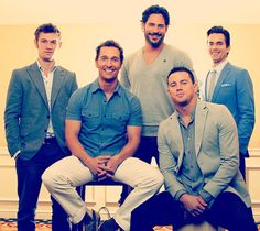 What's with the shirts, boys?  magic mike cast <3