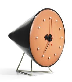 (clocks with no numbers make me happy) George Nelson, Cone Clock Model 2281C, Howard Miller