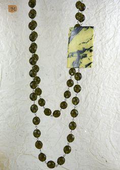 Lungo filo di cristalli a rosario e turchese giallo  - MY HANDMADE JEWELRY by Maria Teresa Maresa Costanzo - Italy https://it.pinterest.com/mteresacostanzo/my-handmade-jewelry/  -- Facebook: http:/www.facebook.com/maresabijoux/ -- Instagram: @maresacostanzo