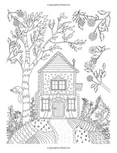 Nice Little Town (Adult Coloring Book, PDF, Digital Pages