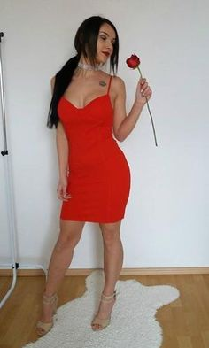FREEDOM BODYCON DRESS in Red Red Bodycon Dress, Bodycon Fashion, Bodycon Style, Most Beautiful Dresses, Strappy Heels, Plunging Neckline, Style Guides, Night Out