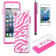 pictures+of+ipod+touch+5+silacone+amazon | ... Dual Armor Hard Soft Pink Silicone Hybrid Case for iPod Touch 5 | eBay
