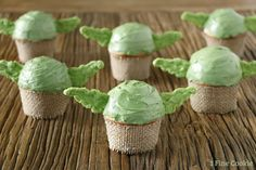 Yoda Cupcakes , yoda, cupcakes, star, wars, diy, easy, green, ears, cute, idea, may 4th, recipe, the force, fan, guide, tutorial