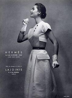 Hermès (Couture) 1954 Summer Dress Photo Guy Arsac Fashion Photography