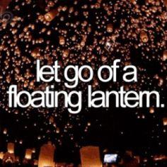 let go of floating lanterns