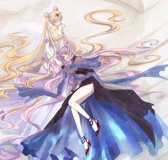 Princess Serenity and Black Lady - bakugan-and-sailor-moon Fan Art