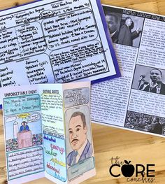 Research activities and lesson plans for Martin Luther King Jr., Rosa Parks, Jackie Robinson, Ruby Bridges