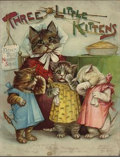 "Antique book ""THREE LITTLE KITTENS"", from Raphael Tuck & Sons"