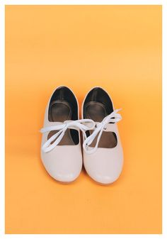 Lace-Up Mary Janes in Vanilla – Billie and Llama ($20.34 USD): Made of Grade A synthetic leather. || WE SHIP WORDWIDE #maryjanes #vintage #fashion #retro #shoes #cuteshoes #womensshoes #laceup #ribbonshoes #forsale #worldwideshipping