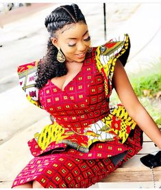 Ankara Xclusive: Beautiful African Print Styles For Plus Size and Curvy Ladies African Print Dresses, African Dresses For Women, African Wear, African Attire, African Fashion Dresses, African Women, Ankara Fashion, African Style, African Prints