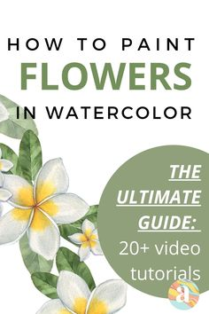 Learning how to paint flowers in watercolor is very fun and this is the step by step guide for you that will help you do just that. Tree Watercolor Painting, Watercolor Art Lessons, Watercolor Paintings For Beginners, Daisy Painting, Watercolor Tips, Painting Lessons, Floral Watercolor, Drawing Lessons, Drawing Ideas