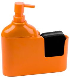 24063Kitchen soap dispenser Caddie orange melamine