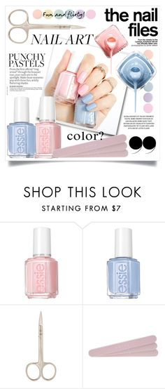 """Pastel Nails"" by danielle-broekhuizen ❤ liked on Polyvore featuring Belleza, Essie, Mally y Deborah Lippmann"