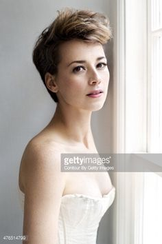 Karine Vanasse Short Haircut