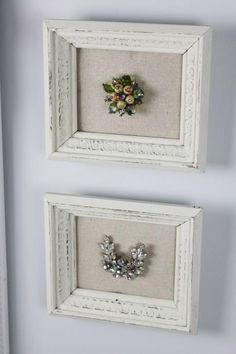 Frame a special piece of jewelry as a momento. | I could do this with the pieces momma left me.