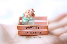 Dollhouse Miniatures, Miniature Food Jewelry, Craft Classes: Parsley for Patience